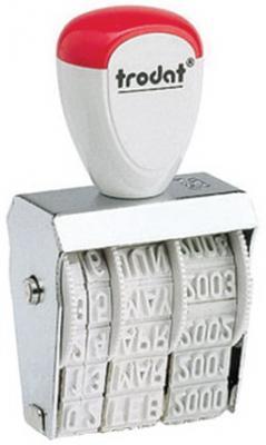 Датер ручной ленточный, оттиск 25х4 мм, месяц буквами, TRODAT 1010, 78471