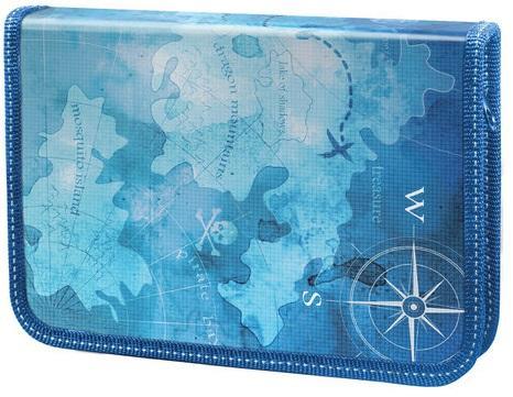 Пенал на одно отделение BRAUBERG Карта сокровищ, Пеналы и папки  - купить со скидкой