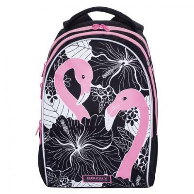 Рюкзак GRIZZLY школьный, анатомическая спинка, девочка, Розовый фламинго, 28х41х20 см, RG-967-1/1 рюкзак grizzly rg 867 2 2 fuchsia