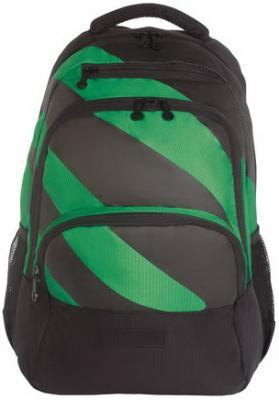 Рюкзак GRIZZLY универсальный, черный/зеленый, 32х45х23 см, RU-924-1/2 недорго, оригинальная цена