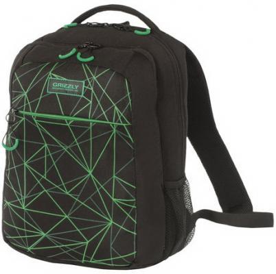 Рюкзак с уплотненной спинкой GRIZZLY Паутина 17 л черный RU-933-1/1 рюкзак с уплотненной спинкой action extreme zombies серый ez ab11073 3 ez ab11073 3