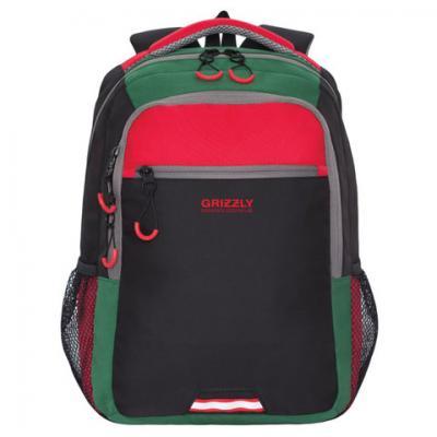 Рюкзак GRIZZLY универсальный, черный/красный, 31х42х22 см, RU-922-3/1 цена и фото
