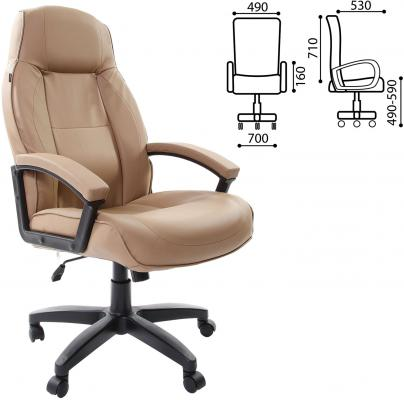 Кресло офисное BRABIX Formula EX-537, экокожа, песочное, 531390