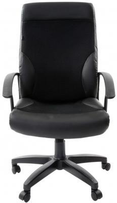 Кресло офисное BRABIX Trust EX-535, экокожа черная, ткань черная, TW, 531384 кресло офисное brabix genesis ex 517 пластик белый ткань экокожа сетка черная 531573