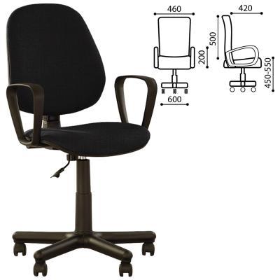 Кресло офисное NOWY STYL Forex GTP чёрный серый