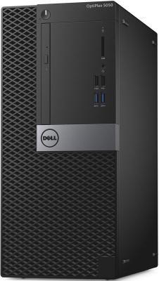 ПК Dell Optiplex 5050 MT i5 6400 (2.7)/4Gb/500Gb 7.2k/HDG530/DVDRW/Windows 10 Professional/GbitEth/240W/клавиатура/мышь/черный/серебристый