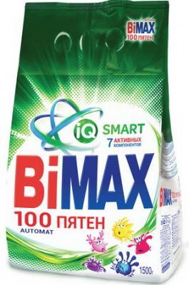 Стиральный порошок-автомат 1,5 кг, BIMAX (Бимакс) 100 пятен (Нэфис Косметикс), 501-1 стиральный порошок bimax color 1 5 кг