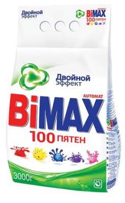 Стиральный порошок-автомат 3 кг, BIMAX (Бимакс) 100 пятен (Нэфис Косметикс), 502-1 стиральный порошок bimax color 1 5 кг