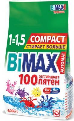 Стиральный порошок-автомат 6 кг, BIMAX (Бимакс) 100 пятен (Нэфис Косметикс), 506-1 стиральный порошок bimax color 1 5 кг