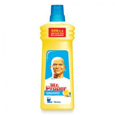 Средство для мытья пола и стен 750 мл, MR.PROPER (Мистер Пропер) Лимон meine liebe универсальное средство для мытья пола антибактериальный эффект 750 мл