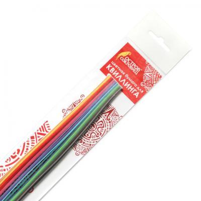 Бумага для квиллинга Цветная глазурь, 24 цвета, 120 полос, 3 мм х 300 мм, 130 г/м2, ОСТРОВ СОКРОВИЩ, 128735
