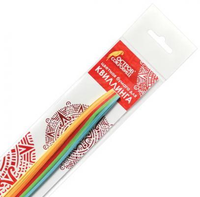 Бумага для квиллинга Яркие цвета, 5 цветов, 100 полос, 3 мм х 300 мм, 80 г/м2, ОСТРОВ СОКРОВИЩ, 128747