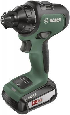 Дрель-шуруповерт Bosch AdvancedDrill 18 Set аккум. патрон:быстрозажимной (кейс в комплекте) дрель шуруповерт hyundai [a 1810li] 18 0в 550 об мин 1 5а ч бзп 18 нм 1 аккум 1 6 кг кейс