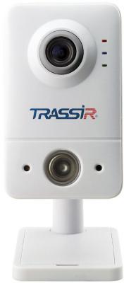 Видеокамера IP Trassir TR-D7111IR1W 3.6-3.6мм цветная корп.:белый видеокамера ip trassir tr d8121ir2 3 6мм белый
