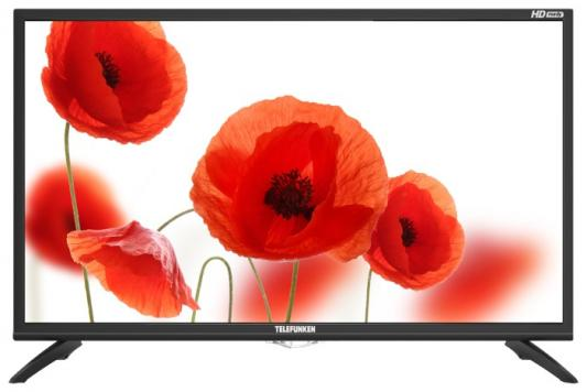 "Телевизор LED Telefunken 31.5"" TF-LED32S25T2 черный/HD READY/50Hz/DVB-T/DVB-T2/DVB-C/USB (RUS) телевизор led mystery 24 mtv 2428lt2 черный hd ready 50hz dvb t dvb t2 dvb c usb rus"