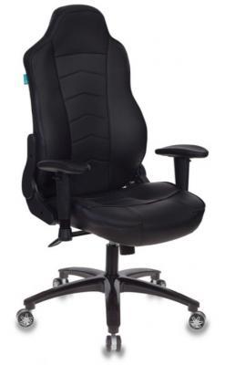 Картинка для Кресло игровое Бюрократ VIKING-3/BLACK черный искусственная кожа