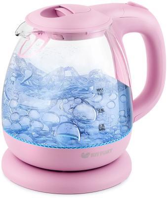 Чайник электрический KITFORT КТ-653-2 1100 Вт розовый 1 л пластик/стекло