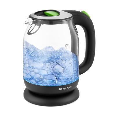 Чайник электрический Kitfort КТ-654-2 1.7л. 2200Вт зеленый (корпус: стекло)
