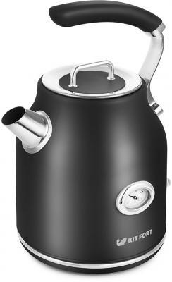 Чайник электрический KITFORT КТ-663-2 2200 Вт чёрный 1.7 л металл чайник электрический element el kettle 2200 w