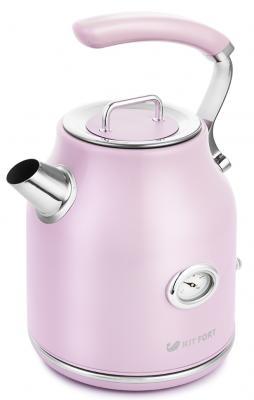 Чайник электрический KITFORT КТ-663-3 2200 Вт розовый 1.7 л нержавеющая сталь чайник электрический element el kettle 2200 w