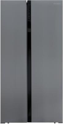 Холодильник Shivaki SBS-574DNFX нержавеющая сталь (двухкамерный) shivaki холодильник shivaki shrf 601sdw нержавеющая сталь двухкамерный