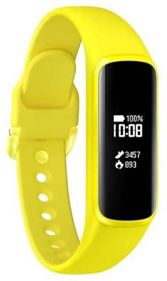 Смарт-часы Samsung Galaxy Fit-e 0.74 PMOLED желтый (SM-R375NZYASER) смарт часы samsung galaxy gear s3 frontier sm r760 1 3 титан матовый черный [sm r760ndaaser]