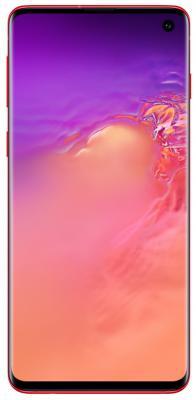 Смартфон Samsung Galaxy S10 128 Гб гранатовый (SM-G973FZRDSER) смартфон samsung galaxy s10 128 гб черный оникс sm g973fzkdser