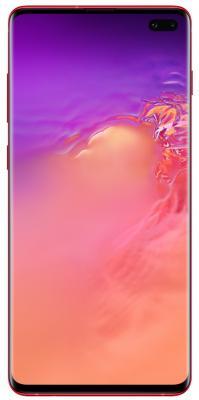 Смартфон Samsung Galaxy S10+ 128 Гб гранатовый (SM-G975FZRDSER) смартфон samsung galaxy s10 128 гб черный оникс sm g973fzkdser
