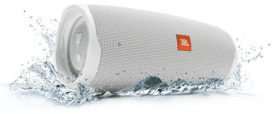 цена на Колонка порт. JBL Charge 4 белый 30W 2.0 BT/USB 7800mAh (JBLCHARGE4WHT)