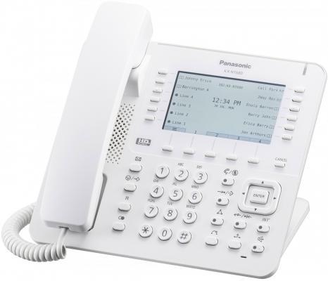 Телефон IP Panasonic KX-NT680RU белый телефон