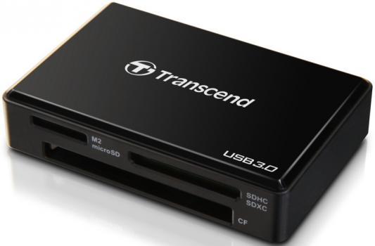 Фото - Считыватель карты памяти Transcend USB 3.0 Transcend All-in-1 Multi Card Reader, Black картридер внешний defender ultra sdhc sd xd ms ms pro ms duo ms pro duo cfi cfii синий черный 83500