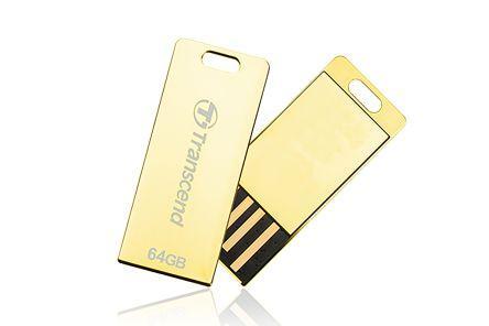 Фото - Флеш-накопитель Transcend 64GB JETFLASH T3G (Gold) USB 2.0 накопитель, металлический корпус, золотой, Ультракомпактный твердотельный накопитель ssd transcend esd230c 240gb