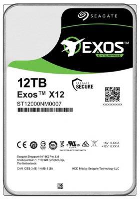 Накопитель на жестком магнитном диске Seagate Жесткий диск HDD 12Tb Seagate Exos X14 ST12000NM0008 3.5 SATA 6Gb/s 256Mb 7200rpm цена