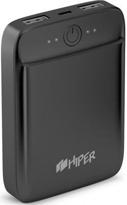 Внешний аккумулятор Power Bank 10000 мАч HIPER SL10000 черный