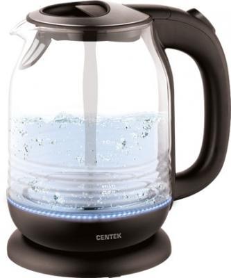 Чайник Centek CT-0016 2200 Вт чёрный 1.7 л стекло