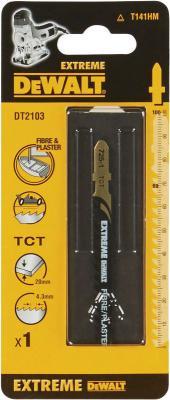 Пилка д/лобзика DEWALT DT2103-QZ п/гипсокартону HM EXTREME. Карбид-вольфрамовые зубья (НМ). T141 H