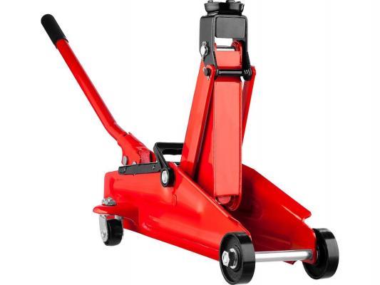 Домкрат STAYER 43153-2-K RED FORCE гидравлический подкатной, 2т, 130-350мм, в кейсе домкрат гидравлический подкатной stayer master 43152 2