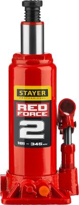 Домкрат STAYER 43160-2-K_z01 гидравлический бутылочный red force 2т 181-345мм в кейсе домкрат гидравлический бутылочный stayer 2т в кейсе red force 43160 2 k z01