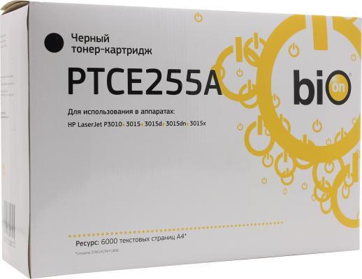 Bion CE255A Картридж для HP LaserJet P3015, черный, 6000 стр. [Бион]