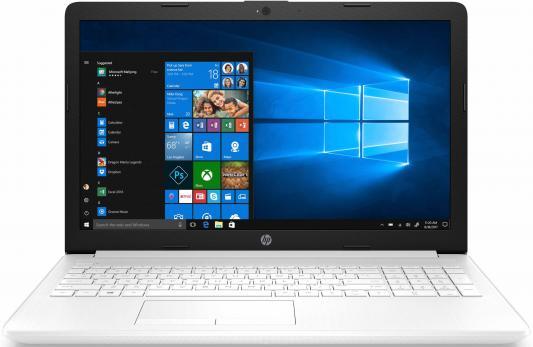 Ноутбук HP 15-da0036ur 15.6 1920x1080 Intel Pentium-N5000 500 Gb 4Gb Intel UHD Graphics 605 белый Windows 10 Home 4GL46EA б/у ноутбук трансформер hp 11 ab194ur x360 intel pentium n5000 1100 mhz 11 6 1366x768 4gb 500gb hdd dvd нет intel uhd graphics 605 wi fi bluetooth windows 10 home
