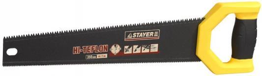 Ножовка двусторонняя STAYER 2-15089 DUPLEX 400 мм, 12 TPI прямой зуб + 7 TPI 3D универсальный зуб цена