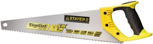 Ножовки по дереву STAYER 1506-40_z01 TopCut 400 мм, 5 TPI, прямой крупный зуб 5 TPI ножовка по сырой древесине runex green 400 мм прямой крупный зуб