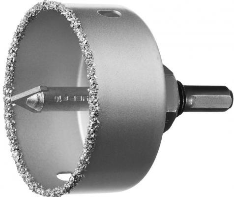 Коронка-чашка Зубр Профессионал 33360-064_z01 64мм X 25мм с карбид-вольфр. покрытием, в сборе коронка чашка с карбид вольфрамовой крошкой зубр эксперт высота 25мм 89мм