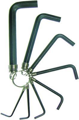 купить Набор ключей BIBER 90501 имбусовых на кольце 2-10мм по цене 80 рублей