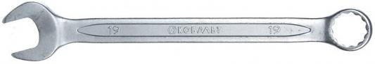 Ключ комбинированный КОБАЛЬТ 642-944 (19 мм) CrV ключ комбинированный кобальт 642 920 17 мм crv