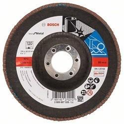 Фото - Bosch 2608607320 КРУГ ЛЕПЕСТК 125мм K120 Best for Metal шлифкруг bosch 125мм к40 50шт best for wood paint 2 608 607 824