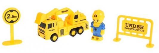 Инерционная машинка YAKO TOYS TOYS Экскаватор желтый инерционная машинка s s toys грузовая 1828 57b
