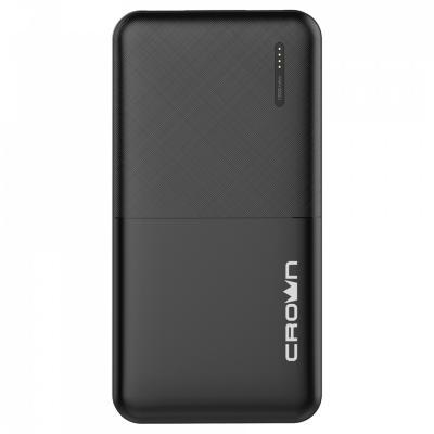 Crown Зарядное устройство CMPB-604 black (power bank, 10000 mAh, Li-Pol, вход: micro-USB-5В/2А; выход: USB-5В/2А) цена