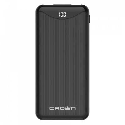 Crown Зарядное устройство CMPB-603 black (power bank, 10000mAh, Li-Pol, входы: micro-USB/typec-C - выходы: 2*USB(A)+type-C QC3.0, PD18W, цифровой дисплей) цена