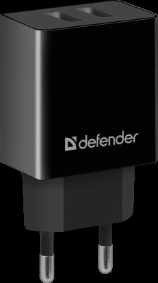 Фото - Defender Сетевой адаптер 2xUSB, 2.1А , черный (UPA-22) (83579) зарядное устройство defender upa 22 2xusb black 83579